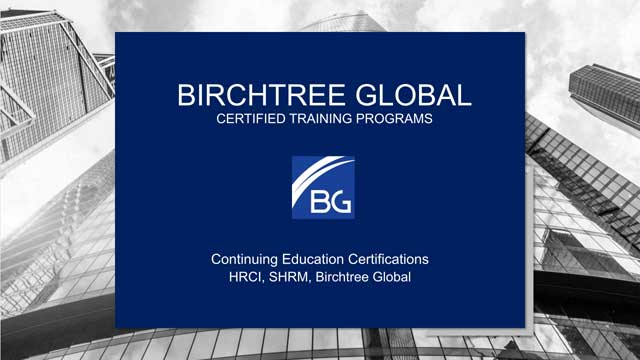 Birchtree Global Certified Training Programs - Continuing Education Certifications